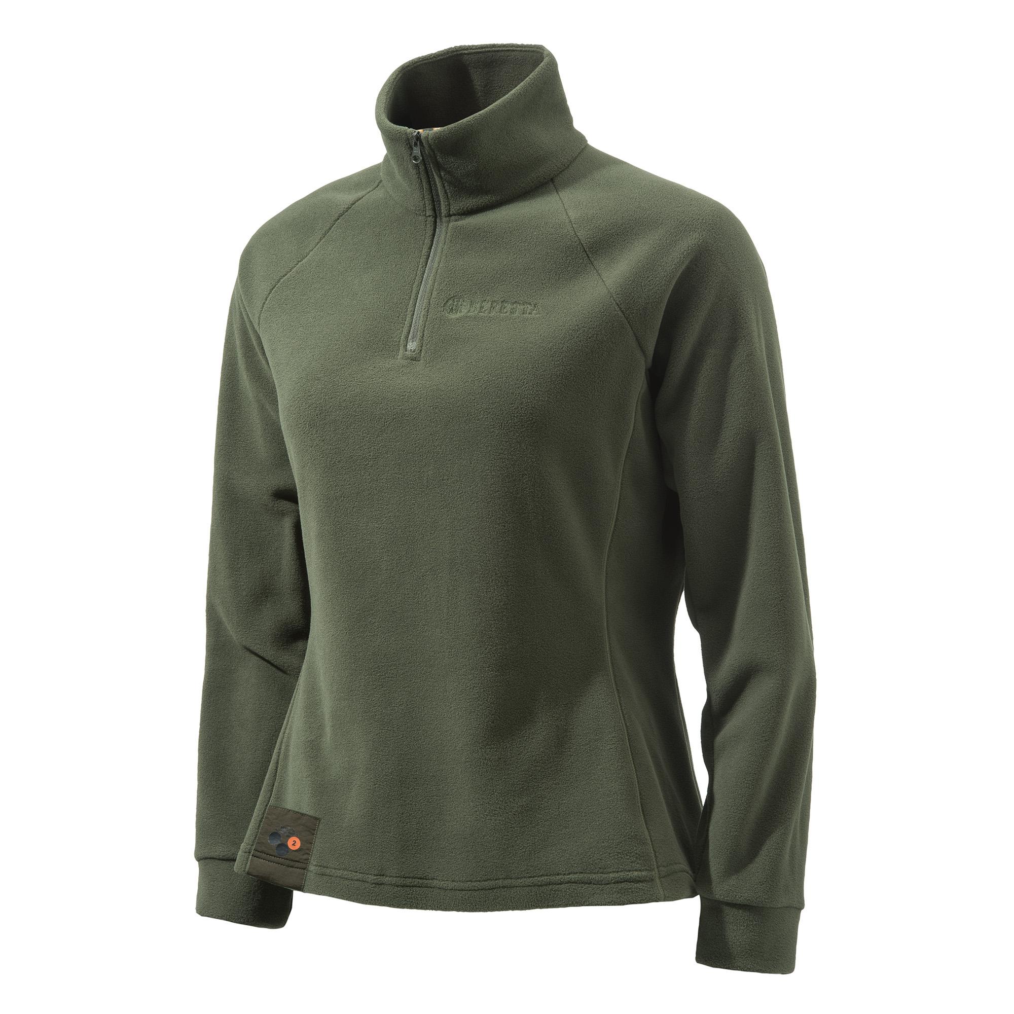 Beretta pile donna verde P3321 T1434 0715Beretta Half Zip Fleece Woman green P3321 T1434 0715